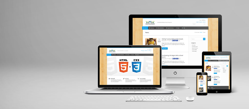 Create website with beautiful design